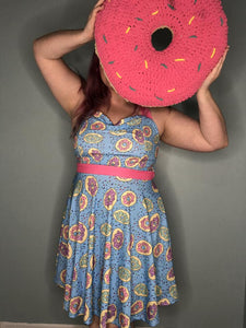 Donuts with Sprinkles in Turquoise | Pin-Up Style Dress