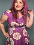 Purple Donuts | Cap Sleeve Sweetheart Dress