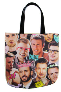 Chris Evans Inspired Custom Printed Canvas Tote Bag