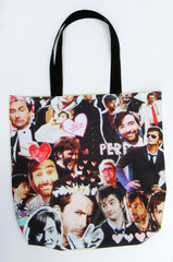 David Tennant Inspired Custom Printed Canvas Tote Bag