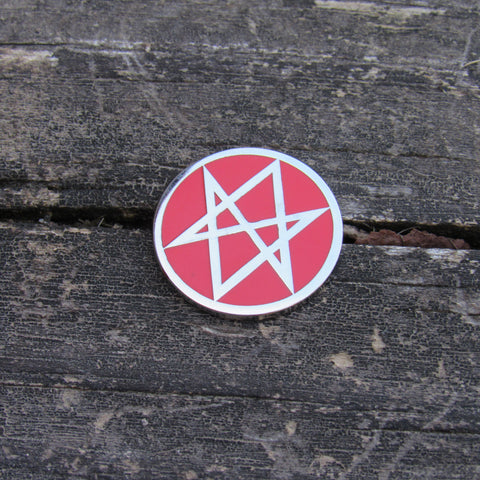 Men of Letters - Supernatural Pin Red