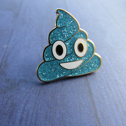 Blue Poop - Hard Enamel Pin