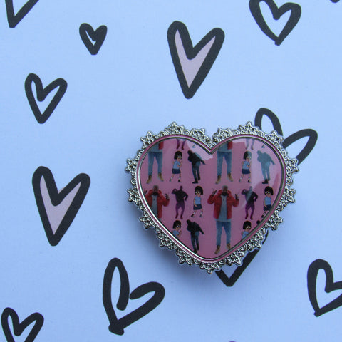 1-800 Hotline Heart Enamel Pin