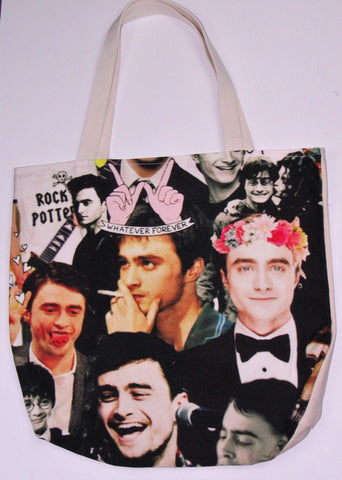 Daniel Radcliffe Custom Printed Canvas Tote Bag