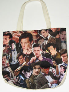 Matt Smith Custom Printed Canvas Tote Bag