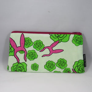 Louise in the Flowers Zipper Pouch