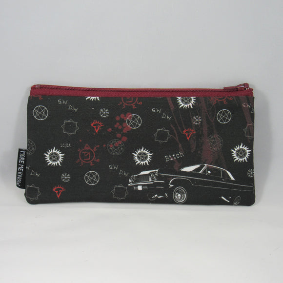 Supernatural Black Zipper Pouch