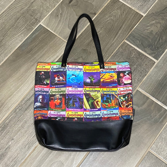 Goosebumps Books | Canvas Tote Bag With Vinyl Accent