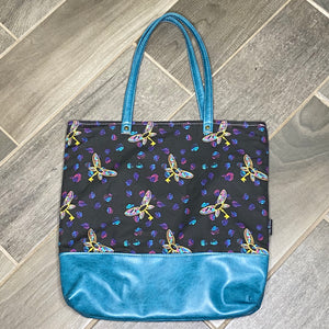 Flying Keys | Canvas Tote Bag With Vinyl Accent