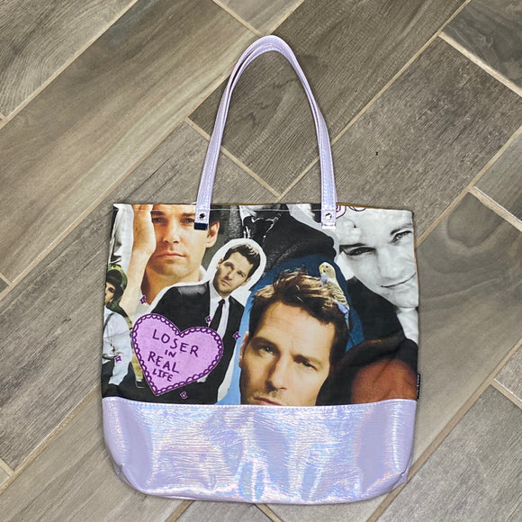 Paul Rudd | Canvas Tote Bag With Vinyl Accent