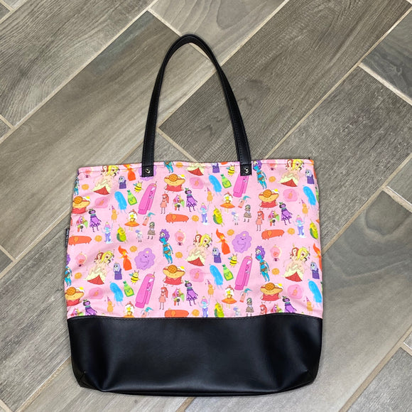 Adventure Time Princess | Canvas Tote Bag With Vinyl Accent