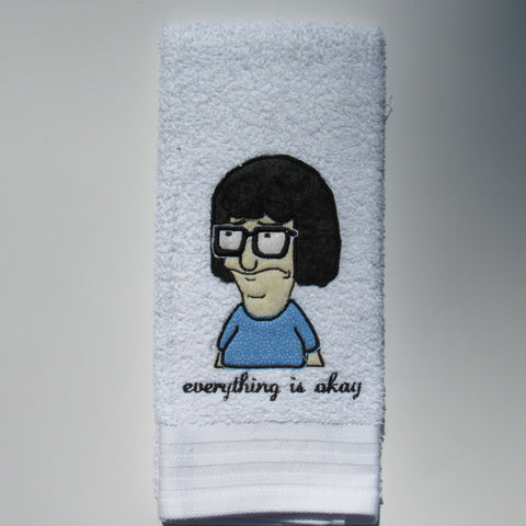 Everything is Okay Decorative Hand Towel