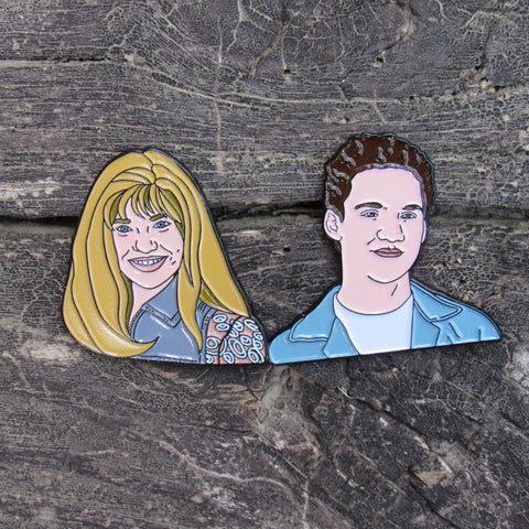 "Cory & Topanga 1.25"" Soft Enamel Pin set"