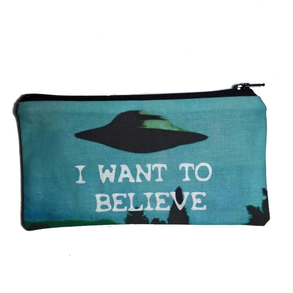 I Want to Believe Zipper Pouch