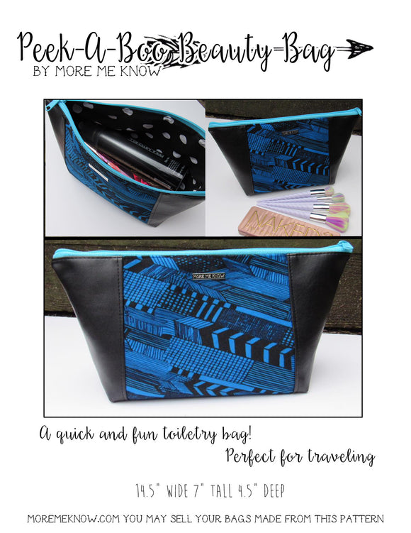 The Peek-A-Boo Beauty Bag - PDF Sewing Pattern