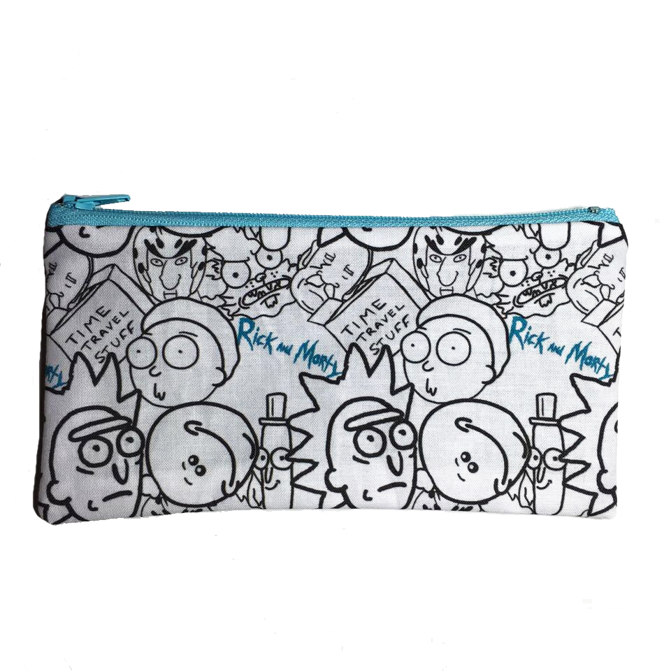 Rick & Morty Inspired Zipper Pouch