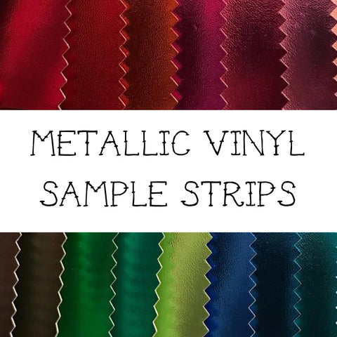 "Metallic Vinyl - Sample Strips Approximately 1"" x 3"""