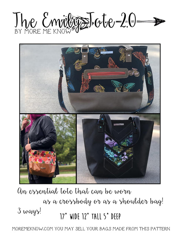 The Emily Tote Bag 2.0 - PDF Sewing Pattern