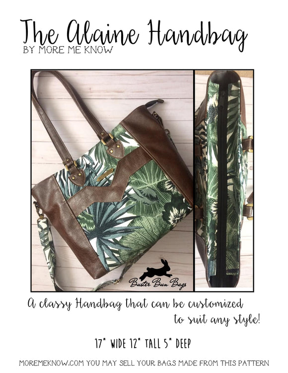 The Alaine Handbag - PDF Sewing Pattern