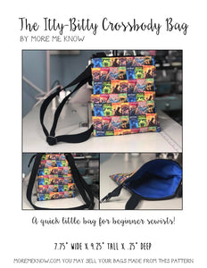 The Itty-Bitty Crossbody Bag - PDF Download ONLY Sewing Pattern
