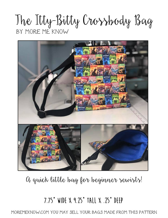The Itty-Bitty Crossbody Bag - PDF Sewing Pattern