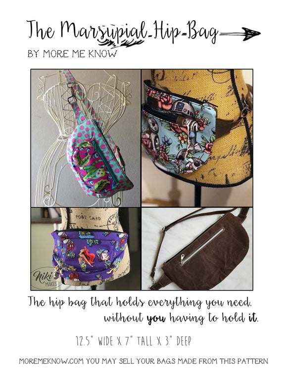 The Marsupial Hip Bag - PDF  Sewing Pattern