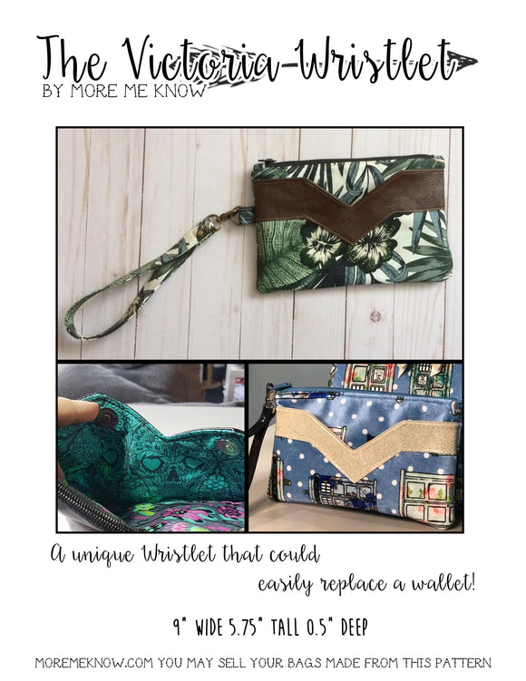 The Victoria Wristlet - PDF Sewing Pattern