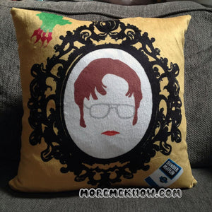 Dwight Schrute - 18x18 inch Custom Printed Minky Fleece Fabric Pillow Cover