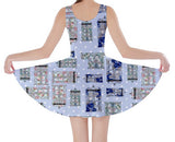 Polka Dot Floral TARDIS Inspired Skater Dress