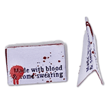 Made with Blood & Some Swearing | Woven Sew-in Labels - Pack of 5