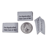 I'm handcrafted. Take Care of Me! | Woven Sew-in Labels - Pack of 5