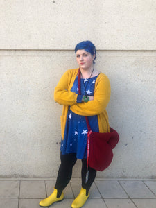 Coraline's Sweater Inspired Long Sleeved Skater Dress