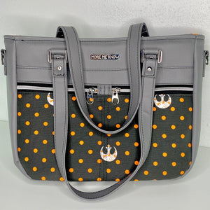 Orange Polka Dot Rebel | The Davina Tote Bag