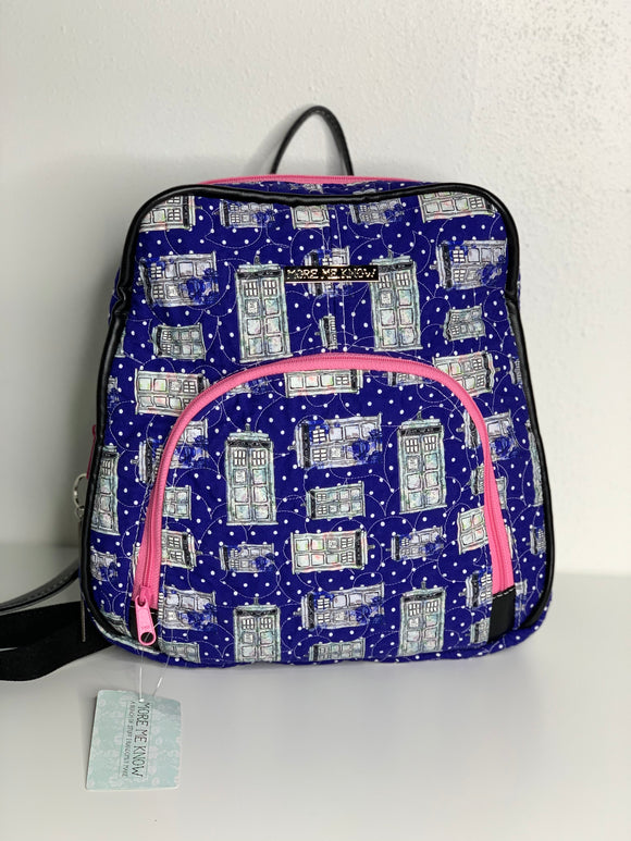 Polka Dot Tardis Quilted Backpack