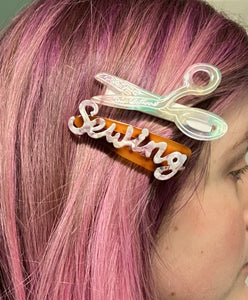 "COMING SOON ""Sewing"" Hair Clip"