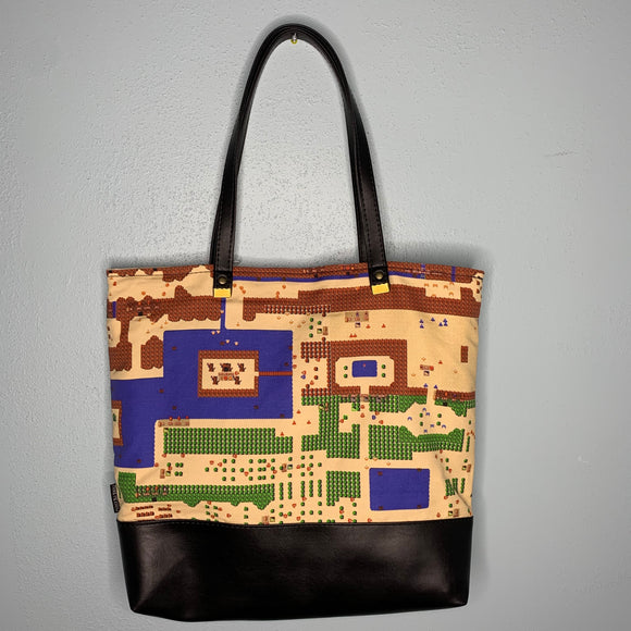 Dangerous to Go Alone | Canvas Tote Bag With Vinyl Accent