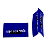 Made with Magic (Blue) | Woven Sew-in Labels - Pack of 5