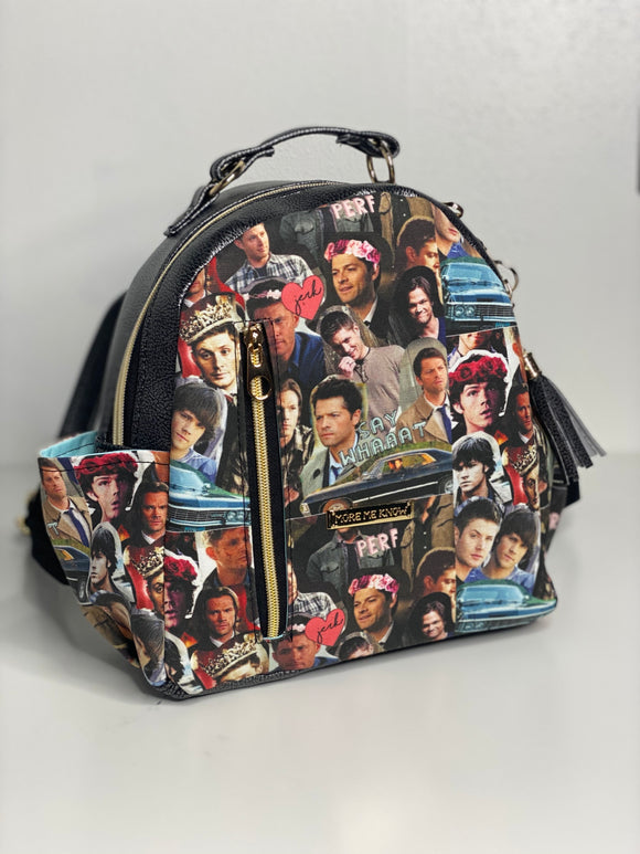 Supernatural Hello Boys | Mini Backpack