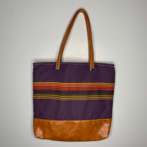 13th Doctor Stripes | Canvas Tote Bag With Vinyl Accent