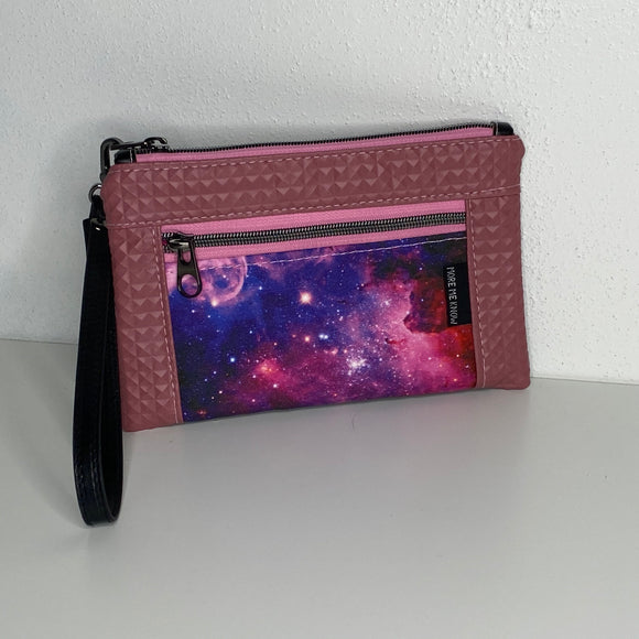 Galaxy Rivet Look Vinyl | Wristlet