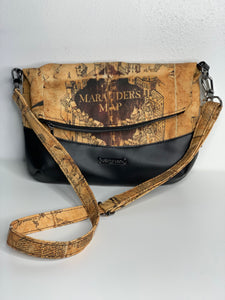 Marauders Map | Fold Over Cross Body Purse