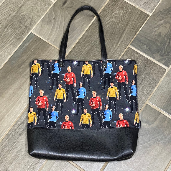 Star Trek | Canvas Tote Bag With Vinyl Accent & Zippered Top