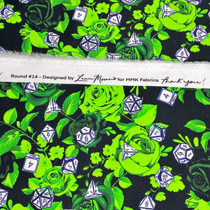 Green Critical Rose Round 14 - 2 Yard Cut