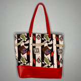 Strange & Unusual Canvas Tote Bag With Vinyl Accent