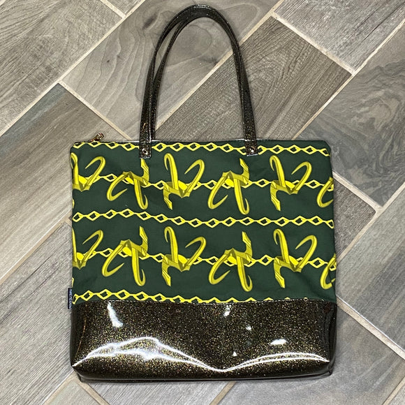 Loki Chains | Canvas Tote Bag With Vinyl Accent & Zippered Top