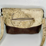 Map of Middle Earth | Fold Over Cross Body Purse