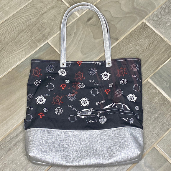 Supernatural Baby | Canvas Tote Bag With Vinyl Accent