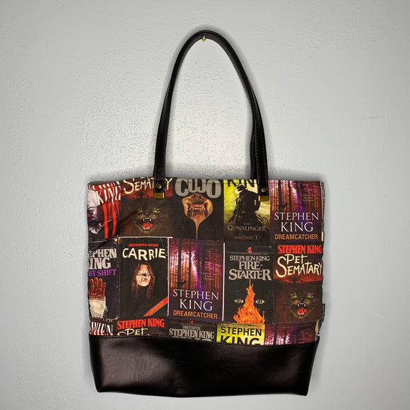 King of Books | Canvas Tote Bag With Vinyl Accent