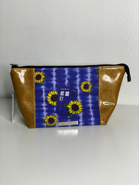 Sunflower TARDIS | Toiletry Bag