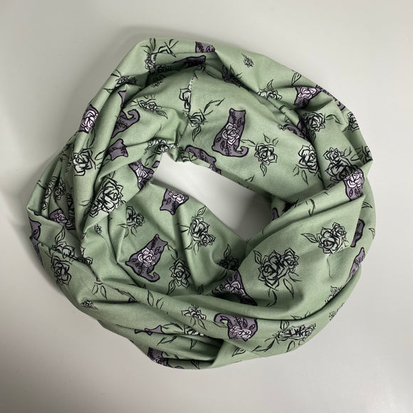Mossy Floral Cat | Infinity Scarf